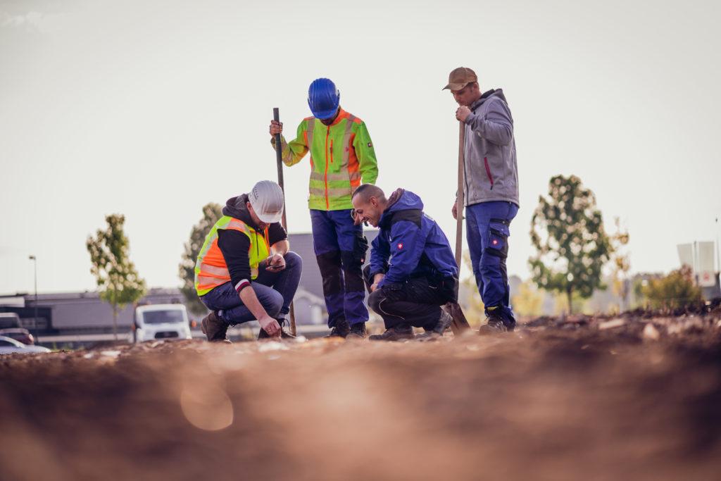 Besprechung Baustelle Team